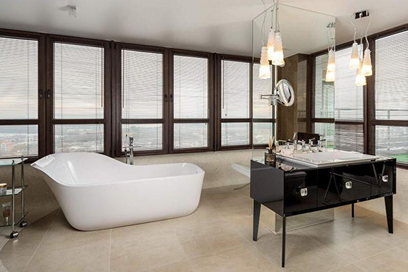 Дизайн ванной комнаты 2018 - Отделка пола