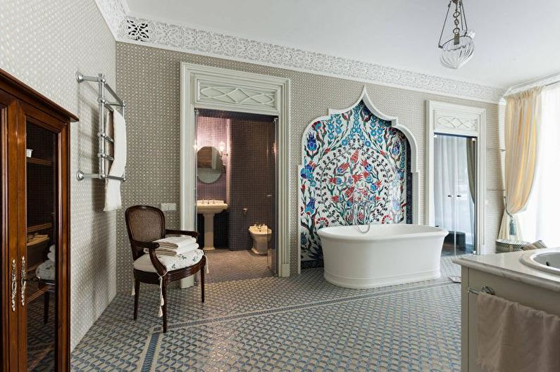 Дизайн ванной комнаты 2021 - Отделка пола
