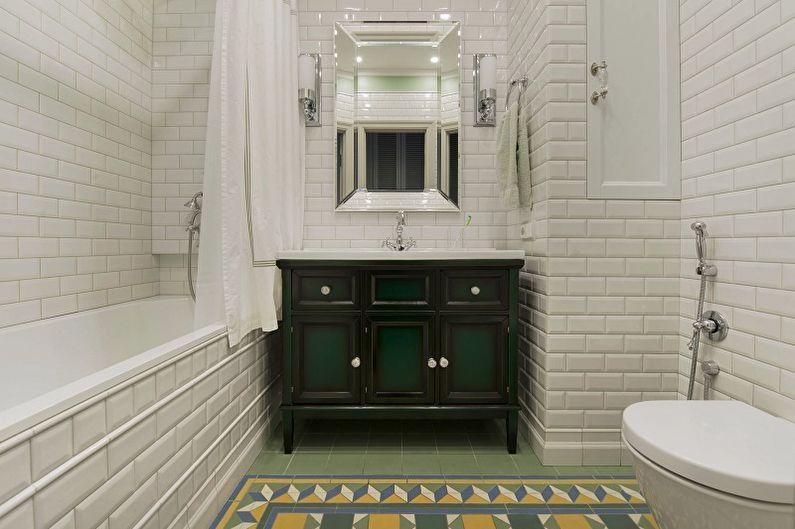 Дизайн ванной комнаты 2018 - Отделка стен