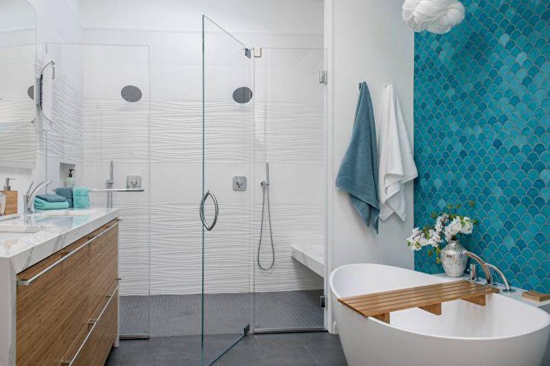 Дизайн ванной комнаты 2021 - Освещение и декор