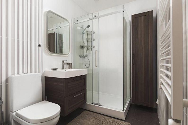Дизайн интерьера маленькой ванной комнаты 2021