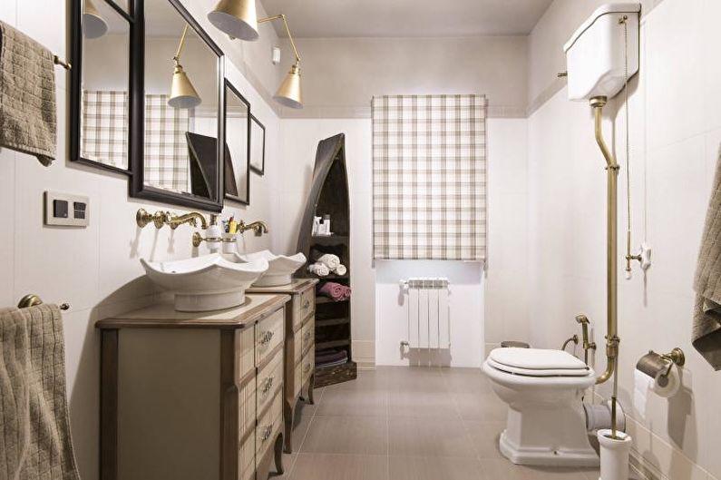 Дизайн интерьера ванной комнаты 2018 - фото