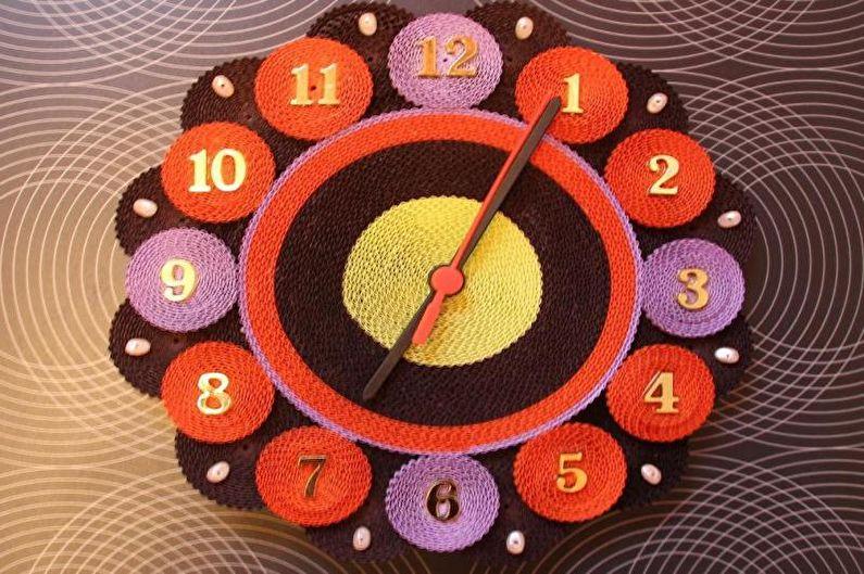 Квиллинг - Часы
