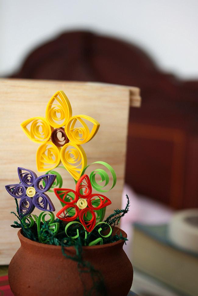 Квиллинг - Горшки для цветов