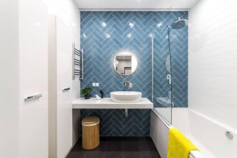 Дизайн ванной маленькой комнаты - 80 фото идей 2018 178