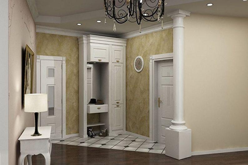Прихожая - Дизайн квартиры в классическом стиле