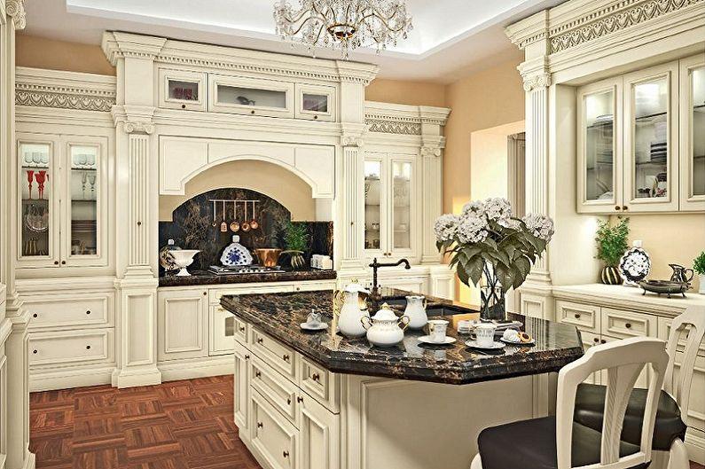 Кухня - Дизайн квартиры в классическом стиле