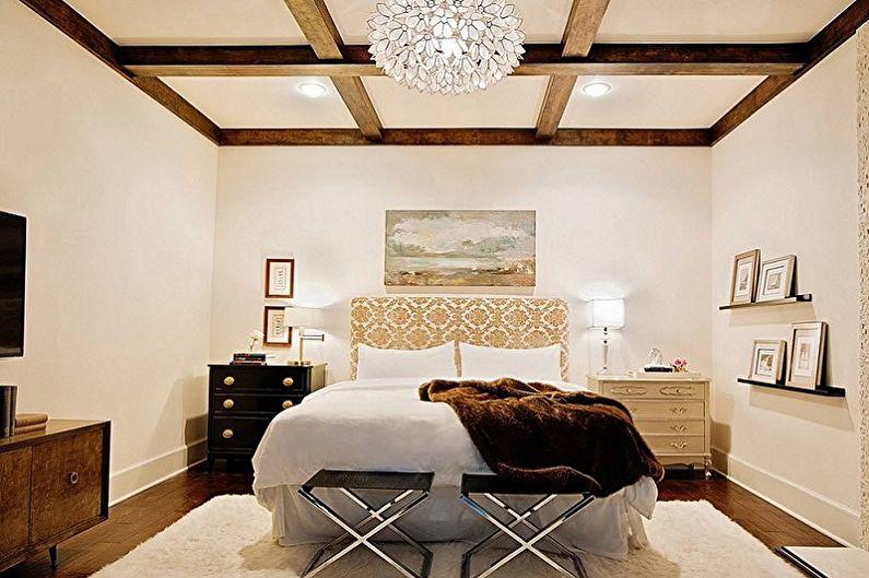 Дизайн спальни 15 кв.м. - Отделка потолка