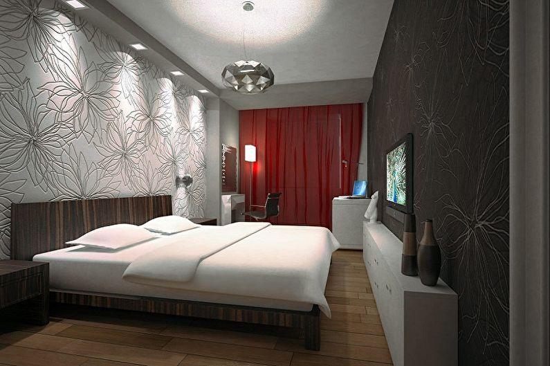 Дизайн спальни 15 кв.м. - Освещение и декор