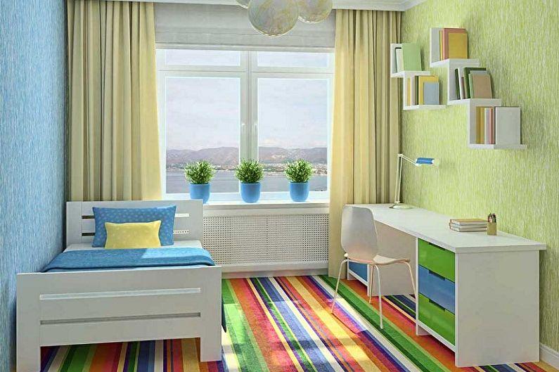 Дизайн маленькой детской комнаты - Отделка пола
