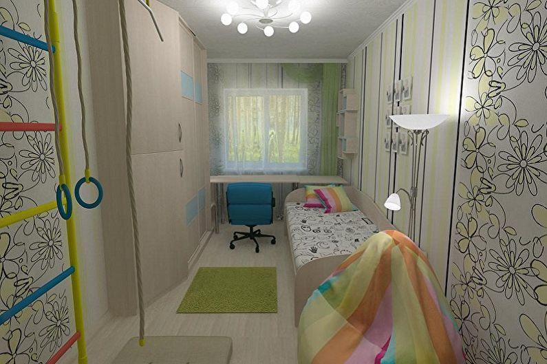 Дизайн маленькой детской комнаты - Отделка стен