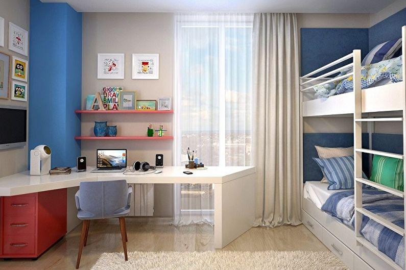 Дизайн маленькой детской комнаты - Освещение и декор