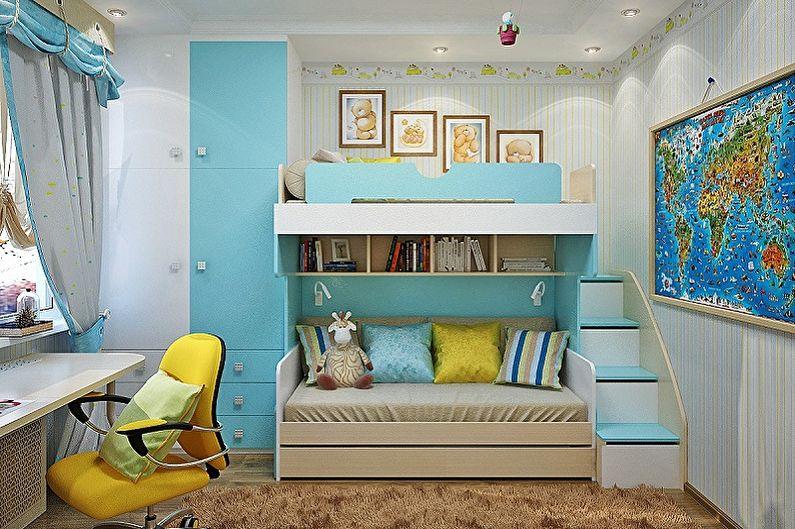 Дизайн маленькой комнаты для дошкольника