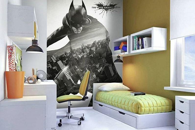 Дизайн интерьера маленькой детской комнаты - фото