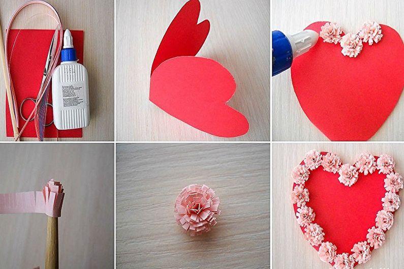 Подарок на 14 февраля своими руками - Открытка-валентинка