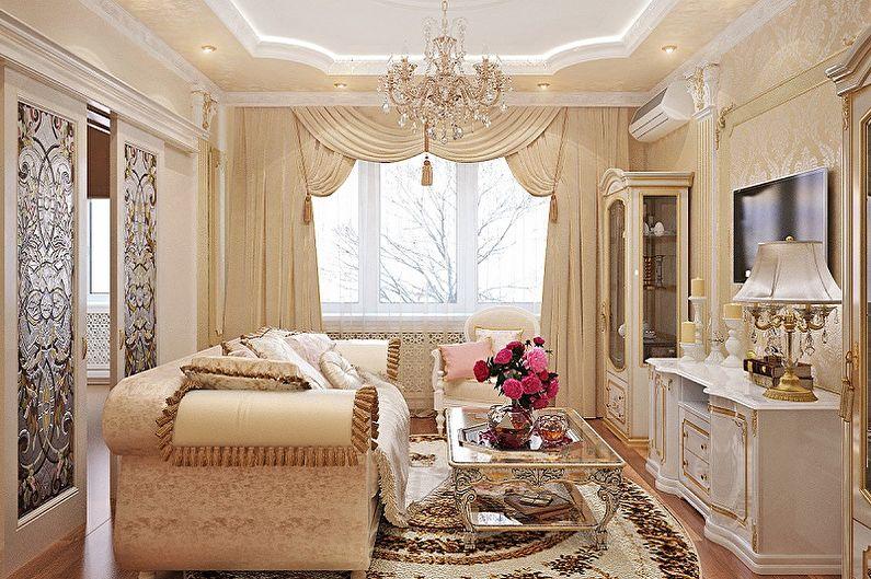 Дизайн квартиры в классическом стиле (85 фото)