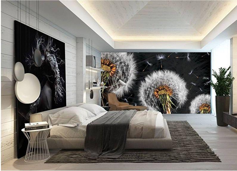 3д фотообои для спальни полевые цветы