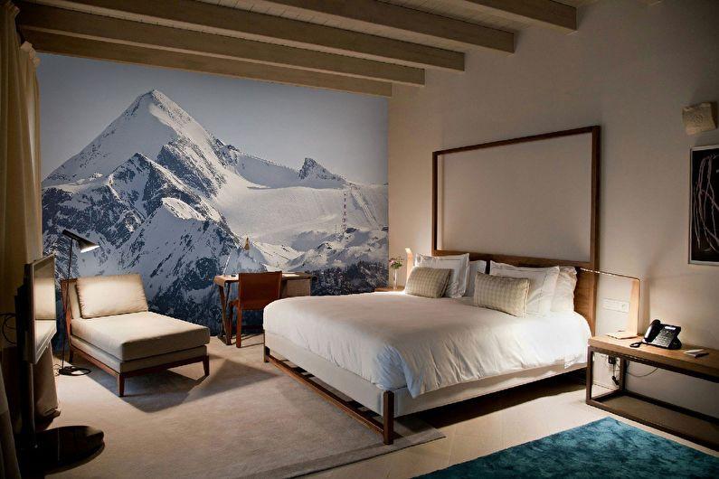 Фотообои в спальню - горы