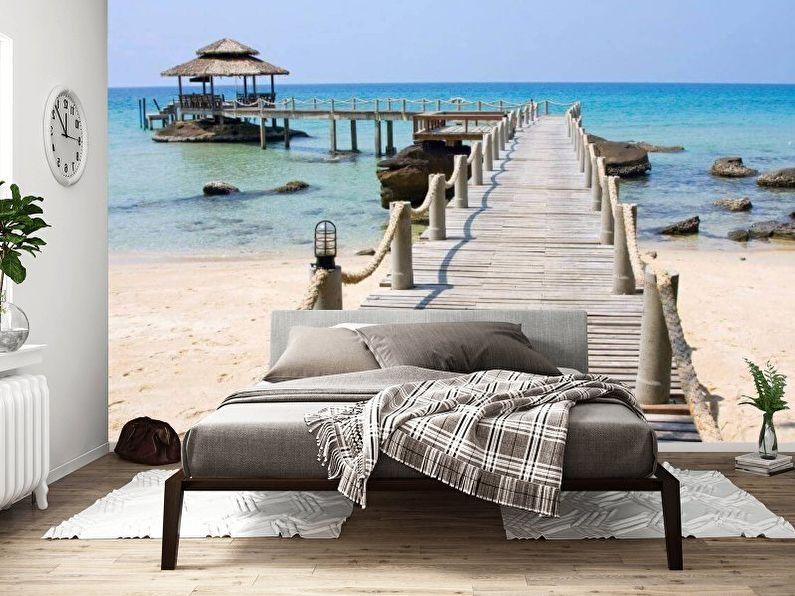 Фотообои для спальни расширяющие пространство – особенности изделий