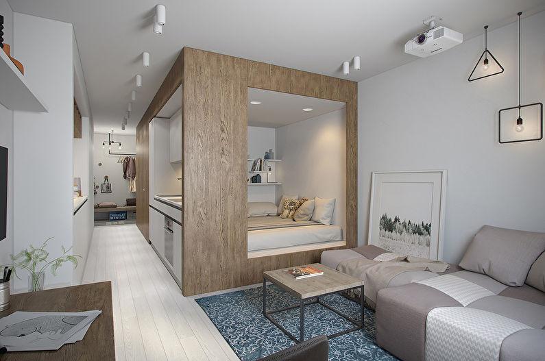 Дизайн комнаты-студии 20 кв.м