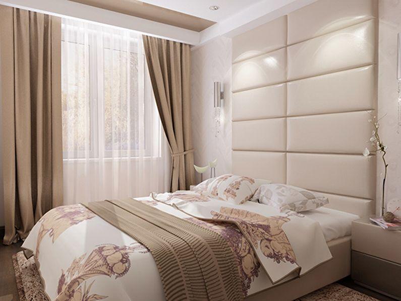 спальни в бежевом цвете квартира фото площади массена