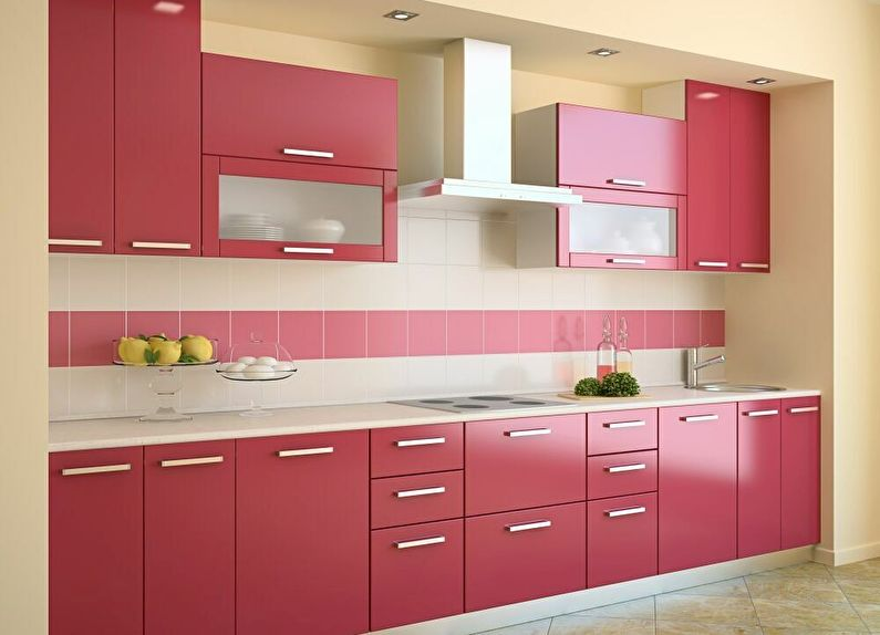 Дизайн кухни 9 кв.м. - Прямой (линейный) гарнитур