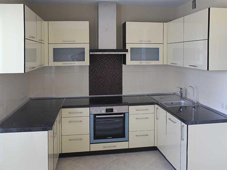 Дизайн кухни 9 кв.м. - П-образный гарнитур