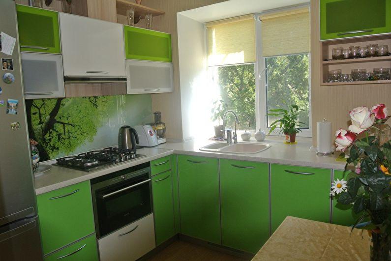 Дизайн кухни 9 кв.м. - Подоконник-мойка