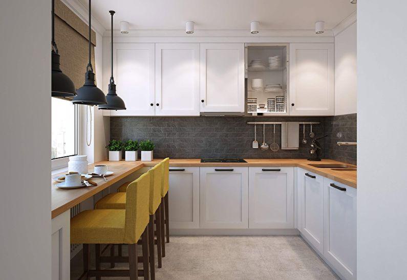 Дизайн кухни 9 кв.м. - Подоконник-столешница