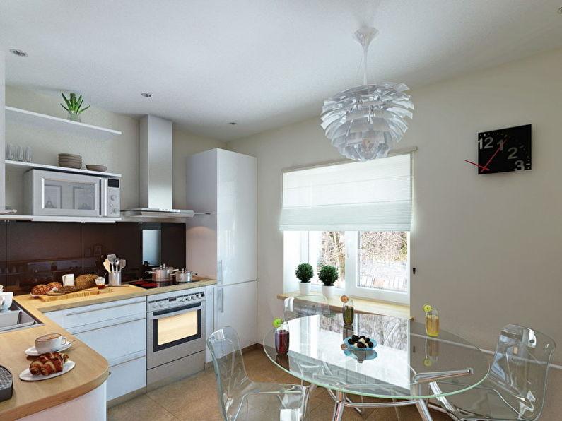 Дизайн кухни 9 кв.м. - Прозрачная мебель