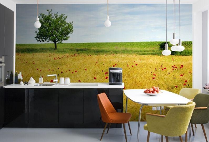 Дизайн кухни 9 кв.м. - Фотообои и фотопанно