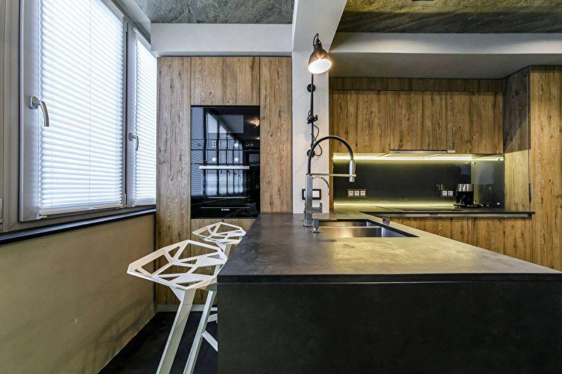 Дизайн кухни 9 кв.м. с балконом