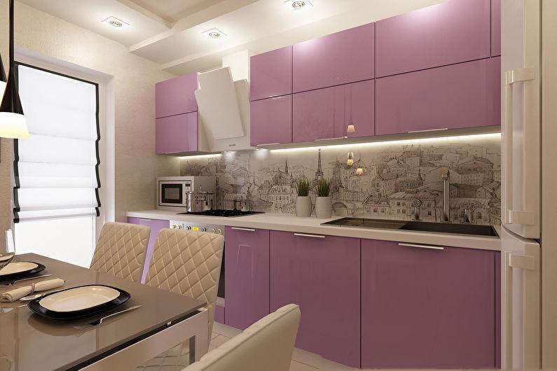 Дизайн кухни 9 кв.м. в современном стиле