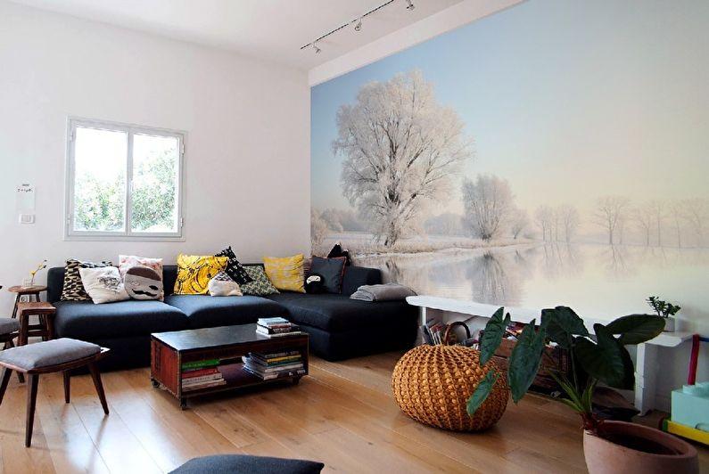 Фотообои для гостиной в скандинавском стиле