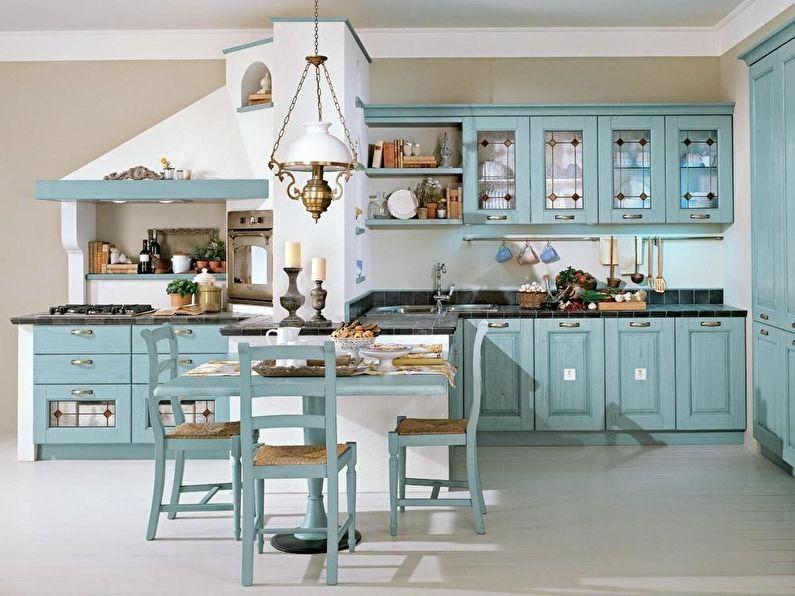 Интерьер кухни в итальянском стиле, Мебель