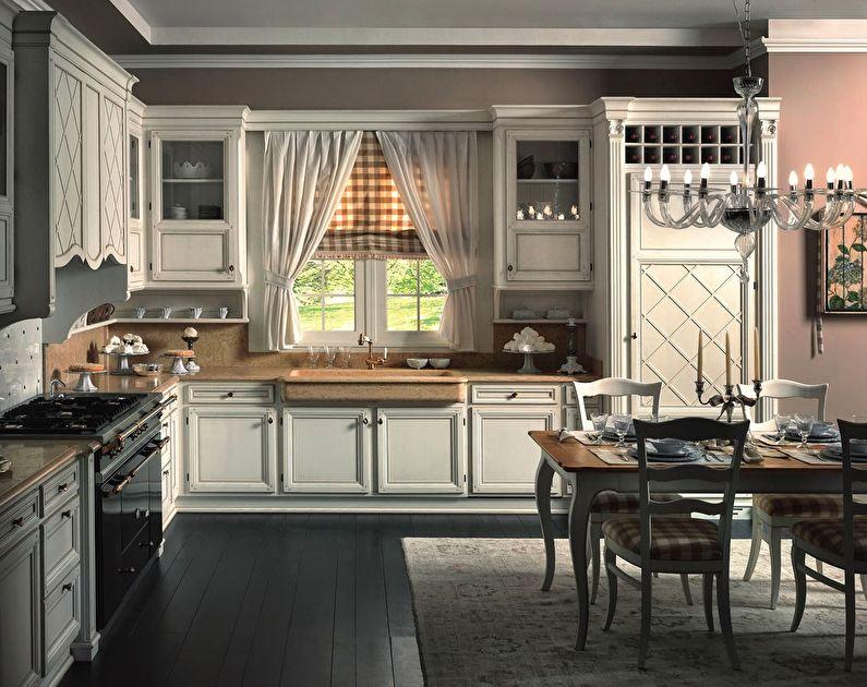 Интерьер кухни в итальянском стиле, Декор