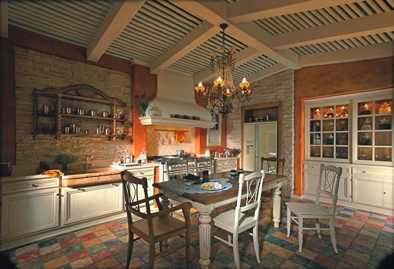 Интерьер кухни в итальянском стиле - фото