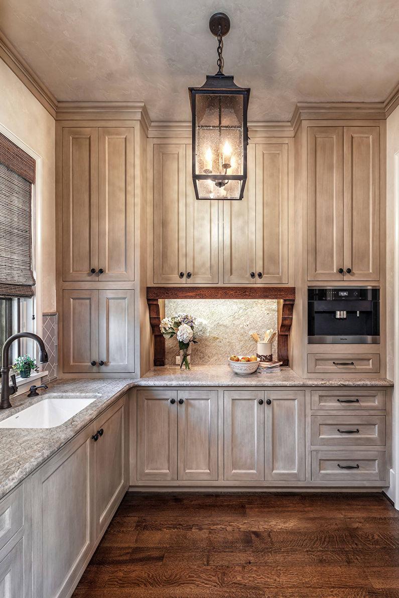 Интерьер маленькой кухни в итальянском стиле - фото