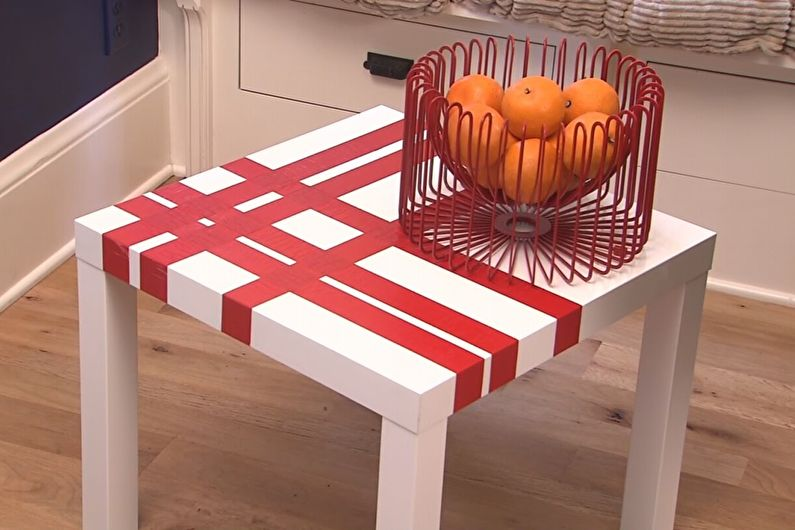 Декоративный скотч - Декор старого стола своими руками