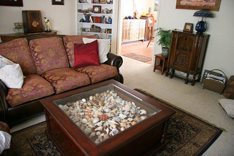 Декор под стеклом - Декор старого стола своими руками