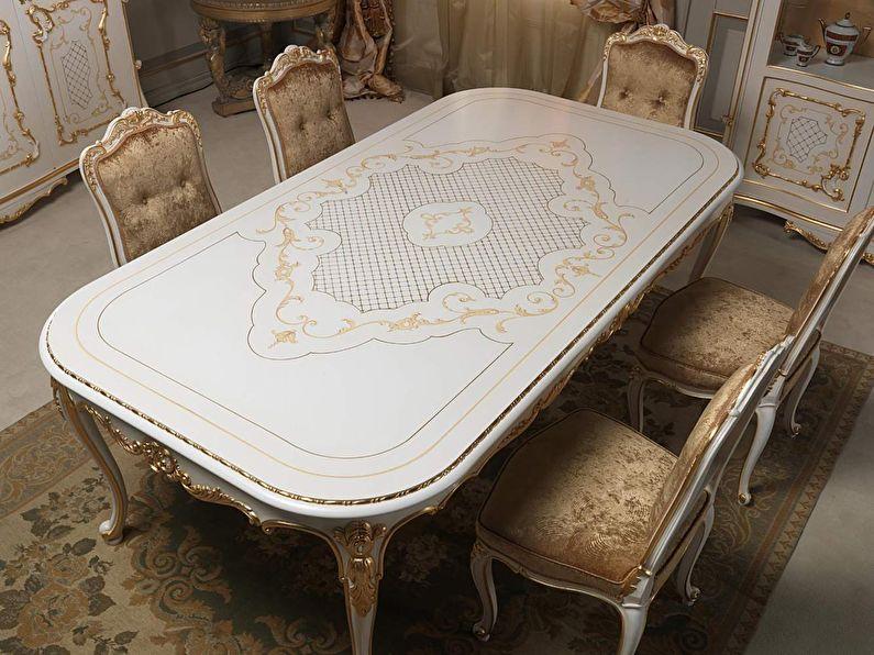 Поталь (золочение) - Декор старого стола своими руками
