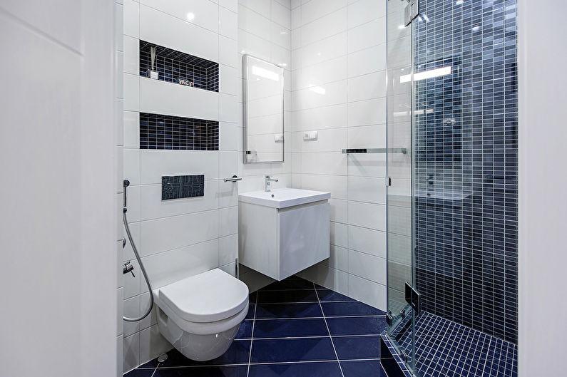 Отделка стен в маленькой ванной