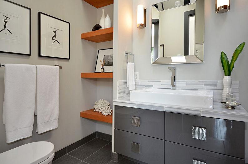 Системы хранения в маленькой ванной комнате