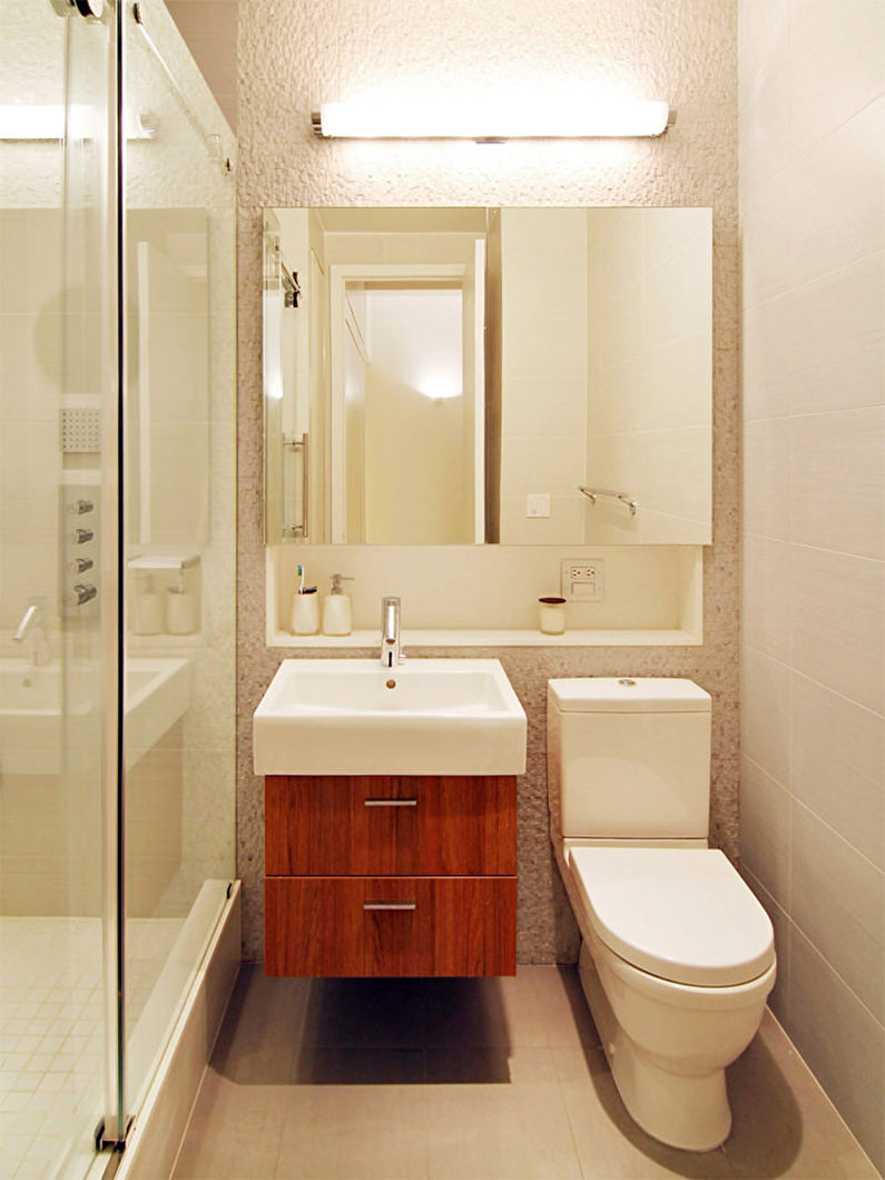 Правильное освещение в маленькой ванной