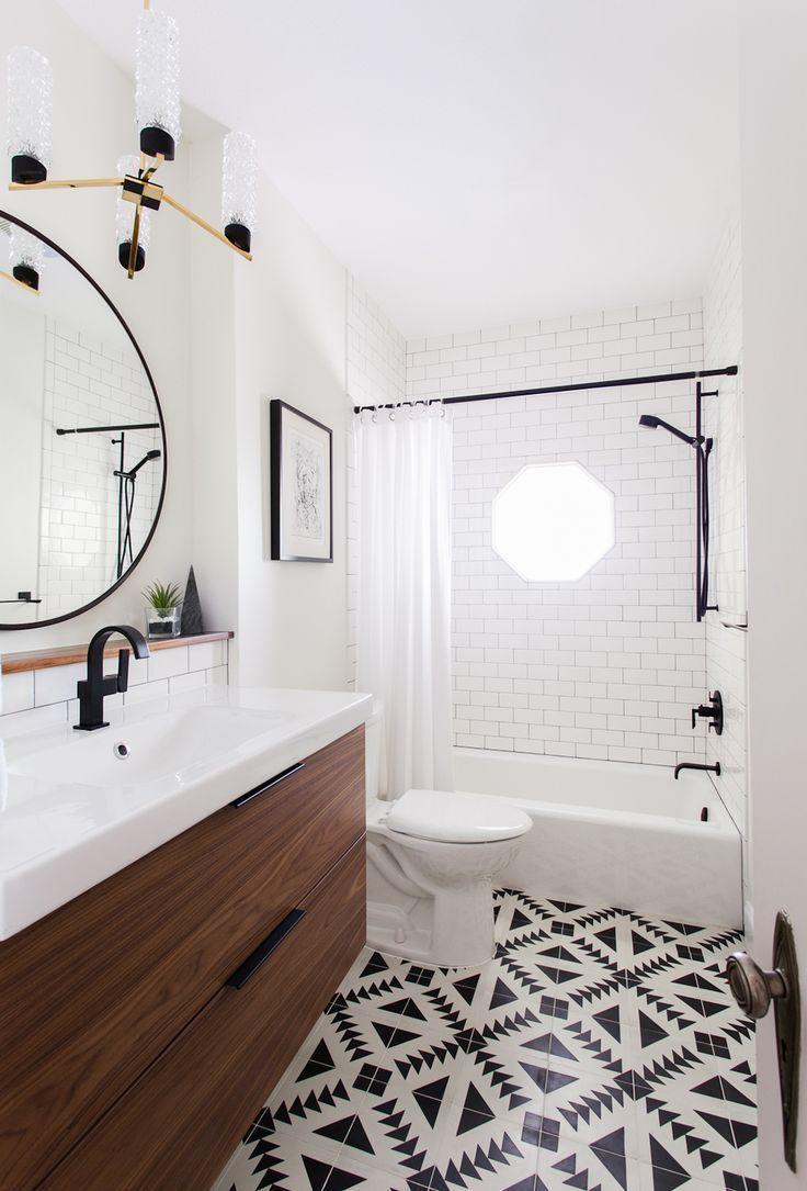 Дизайн маленькой ванной комнаты в скандинавском стиле