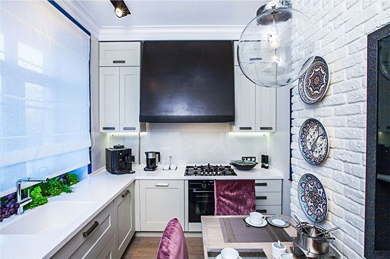 Kuhinja notranjost 9 kvadratnih metrov