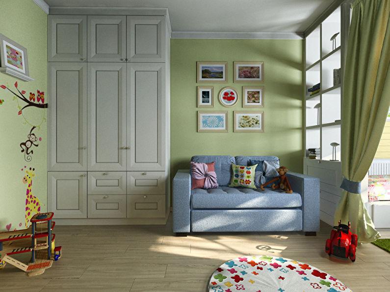 интерьер детской комнаты для мальчика и девочки 20 м2 идеи интерьеров