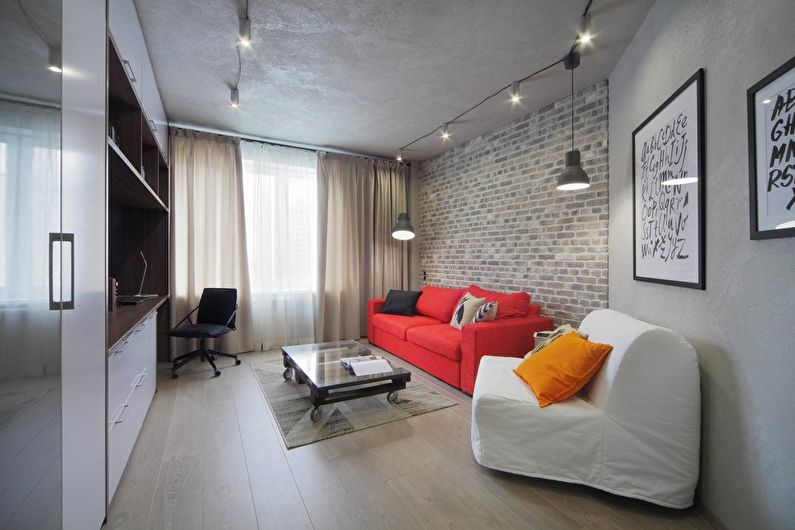 Concrete: Интерьер квартиры в стиле лофт — Идеи интерьеров