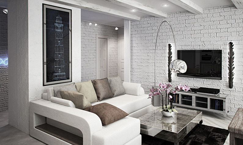 Дизайн квартиры 72 кв.м. — Идеи интерьеров