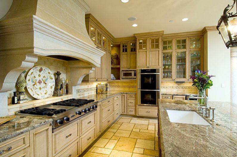 Итальянский стиль в <u>картины</u> интерьере кухни (+25 фото)